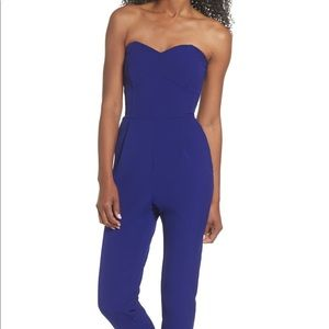 Adelyn Rae Strapless Slim Leg Jumpsuit